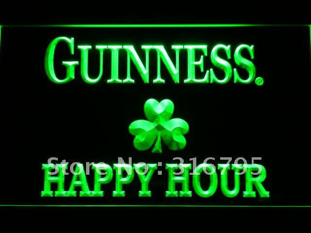 Guinness Shamrock Happy Hour Bar LED Sign -  - TheLedHeroes