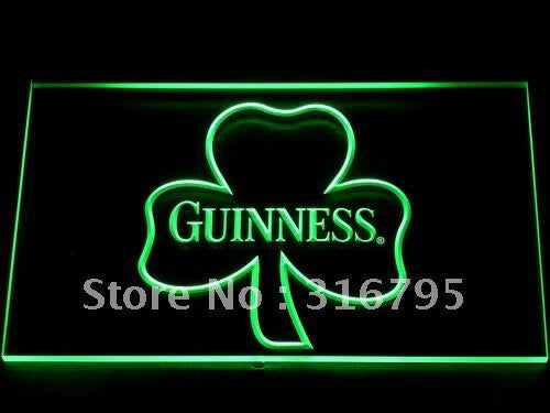 Guinness Shamrock Beer Bar Club LED Sign -  - TheLedHeroes