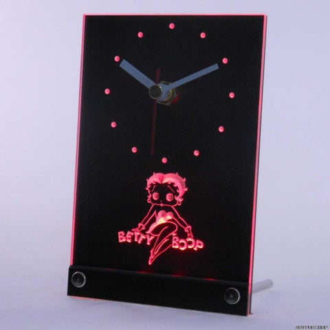 Betty Boop Table Desk 3D LED Clock -  - TheLedHeroes