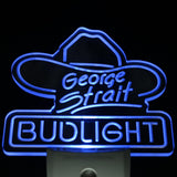 Bud Light George Strait Bar Pub Day/ Night Sensor Led Night Light Sign
