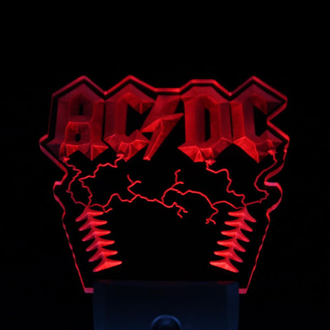 ACDC Rock n Roll Bar Day/ Night Sensor Led Night Light Sign