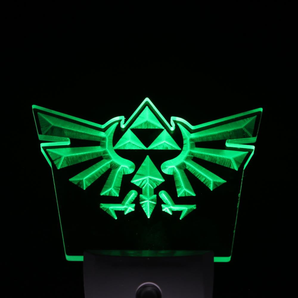 Legend Of Zelda Triforce Day/ Night Sensor Led Night Light Sign
