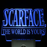 Scarface The World is Yours Day/ Night Sensor Led Night Light Sign