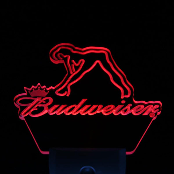 Budweiser Exotic Dancer Stripper Bar Day/ Night Sensor Led Night Light Sign