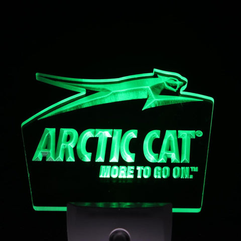 Arctic Cat Snowmobiles Logo Day/ Night Sensor Led Night Light Sign