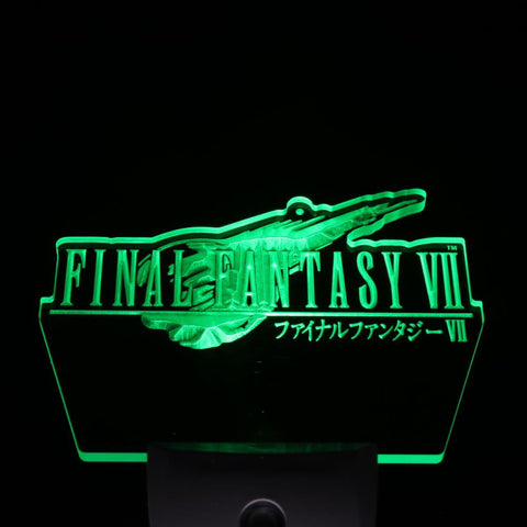 Final Fantasy VII FF7 PS2 Gift Day/ Night Sensor Led Night Light Sign