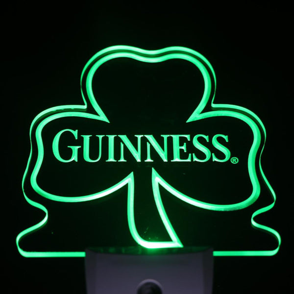 Guinness Shamrock Beer Day/ Night Sensor Led Night Light Sign