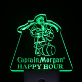 Captain Morgan Happy Hour Beer Day/ Night Sensor Led Night Light Sign