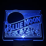 Blue Moon Beer Day/ Night Sensor Led Night Light Sign