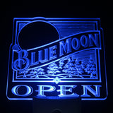 Blue Moon OPEN Bar Beer Day/ Night Sensor Led Night Light Sign