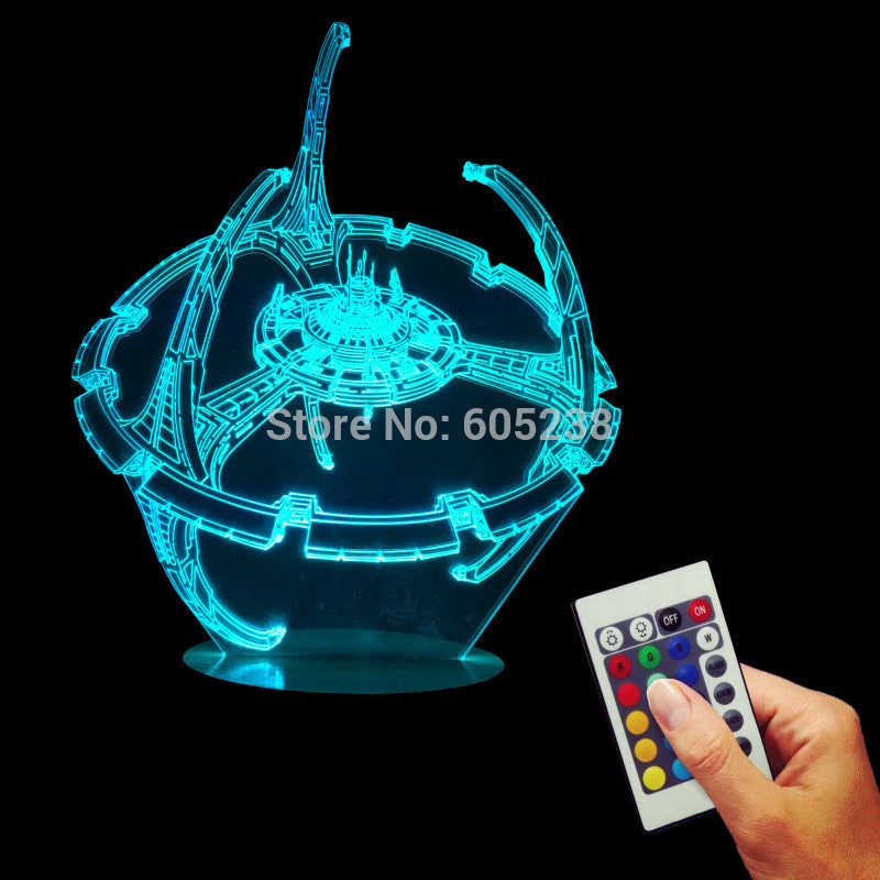 Deep Space Nine 3D LED LAMP -  - TheLedHeroes