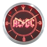 ACDC Band Music Bar Club LED Wall Clock