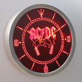 ACDC Rock n Roll Bar Beer LED Wall Clock