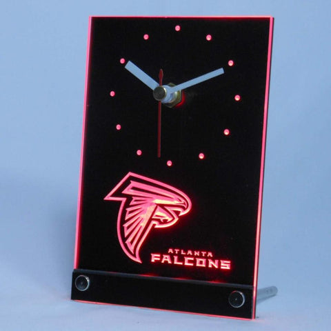 Atlanta Falcons Table Desk 3D LED Clock - Red - TheLedHeroes