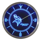 Minnesota Vikings Sign LED Wall Clock - FREE SHIPPING - Blue - TheLedHeroes