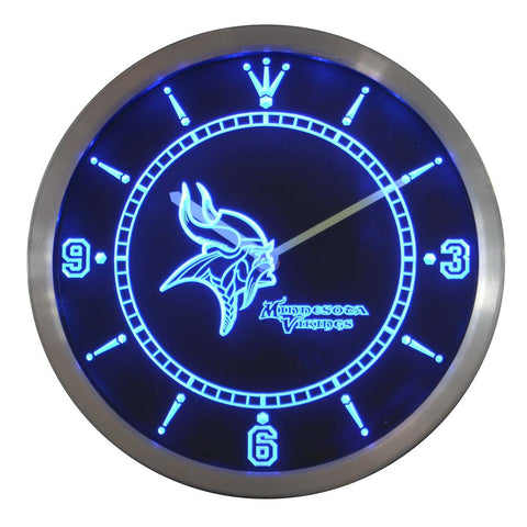 Minnesota Vikings Sign LED Wall Clock - FREE SHIPPING