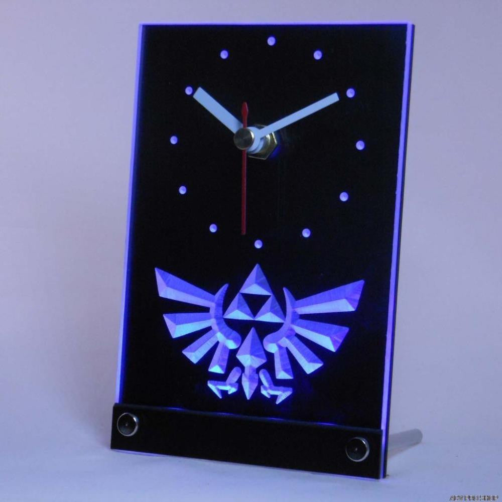 Legend Of Zelda Triforce Table Desk 3D LED Clock -  - TheLedHeroes