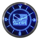 Blue Moon Beer Bar Pub Logo LED Clock