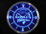 Fly Fishing Hole Sign Bar LED Wall Clock -  - TheLedHeroes