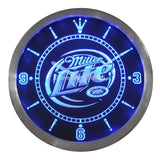 Miller Lite Beer Bar LED Wall Clock