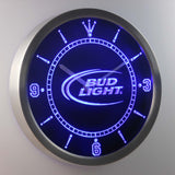 Bud Light Beer Bar LED Wall Clock