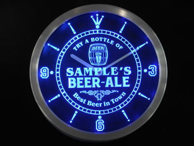 Beer Ale Bar Best in Town LED Wall Clock -  - TheLedHeroes