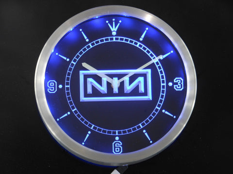 NIN Nine Inch Nail Rock n Roll Bar Beer LED Wall Clock -  - TheLedHeroes