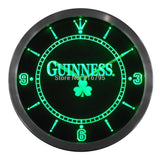 Guinness Beer Shamrock Bar LED Wall Clock