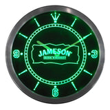 Jameson Whiskey Bar Club Pub LED Wall Clock