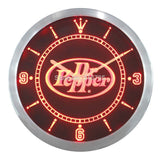 Dr Pepper Drink Pub Bar LED Wall Clock