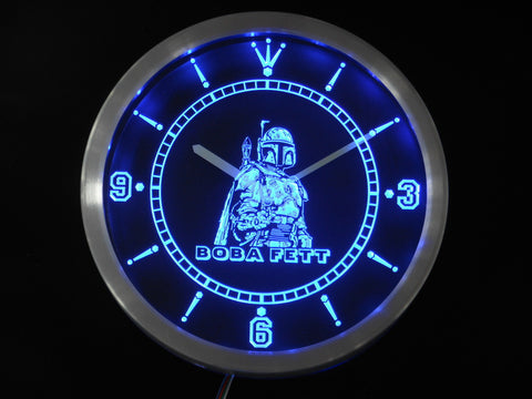 Boba Fett Star Wars LED Wall Clock -  - TheLedHeroes