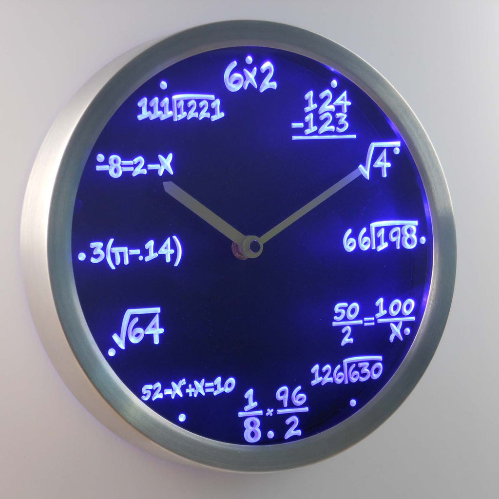Math Class Algebra Formula Mathematics Teacher gift Neon LED Wall Clock -  - TheLedHeroes