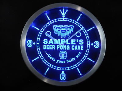 Beer Pong Cave Bar Beer LED Wall Clock -  - TheLedHeroes