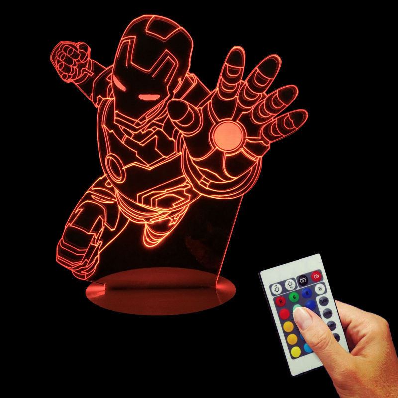 Iron Man flying Hi Five 3D LED LAMP -  - TheLedHeroes