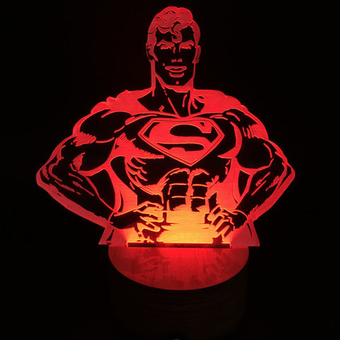 Free Shipping Clark Kent Superman Color Changing Light Handmade Bulbing Lamp with Remote Controller
