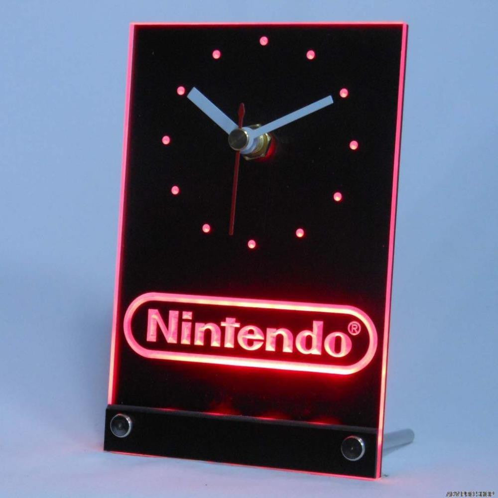 Nintendo Game Room Table Desk 3D LED Clock -  - TheLedHeroes