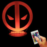 Deadpool Logo 3D LED LAMP