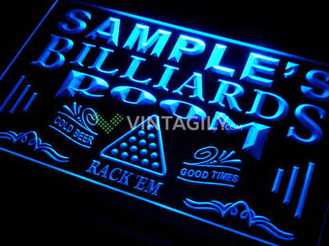 Billiards Pool Name Personalized Custom LED Sign -  - TheLedHeroes