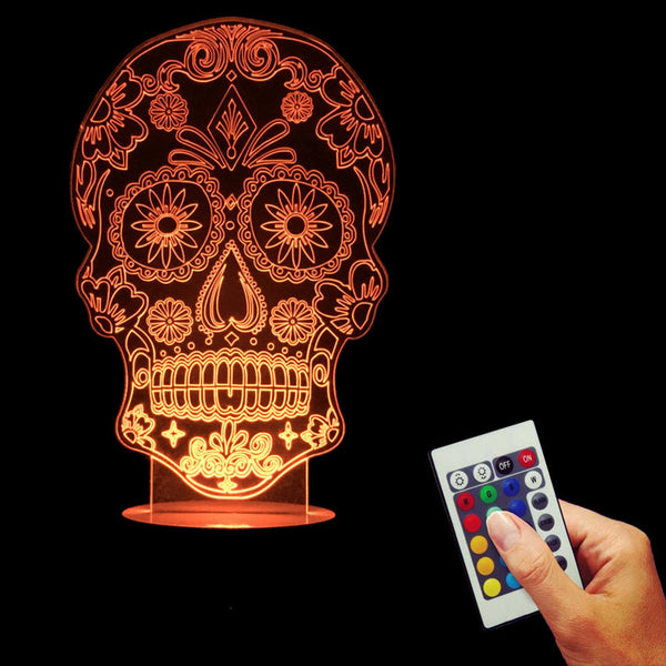 Free Shipping Creative Design Of The Dead Sugar Skull Fever Holloween Decor Light