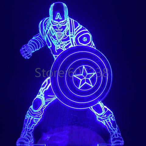 Captain America 3D LED LAMP