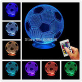 Soccer Ball 3D LED LAMP -  - TheLedHeroes