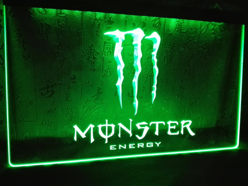 Monster Energy Drink LED Sign - Green - TheLedHeroes
