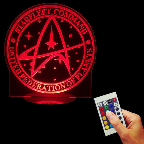 Command United Federation of Planets 3D LED LAMP