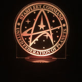 Command United Federation of Planets 3D LED LAMP -  - TheLedHeroes