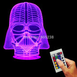 Darth Vader Helmet 3D LED LAMP -  - TheLedHeroes