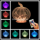 Halloween Pumpkin 3D LED LAMP -  - TheLedHeroes