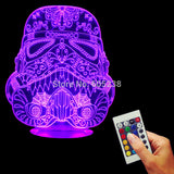 Free Shipping Star Wars The Force Awakens Sugar Stromtrooper Table Lamp Multi-colored 3D LED USB Desk Night Light