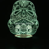 Sugar Stormtrooper 3D LED LAMP -  - TheLedHeroes