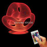 Abstraction Fashion Modeling 3D LED LAMP