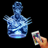 Wolverine 3D LED LAMP -  - TheLedHeroes